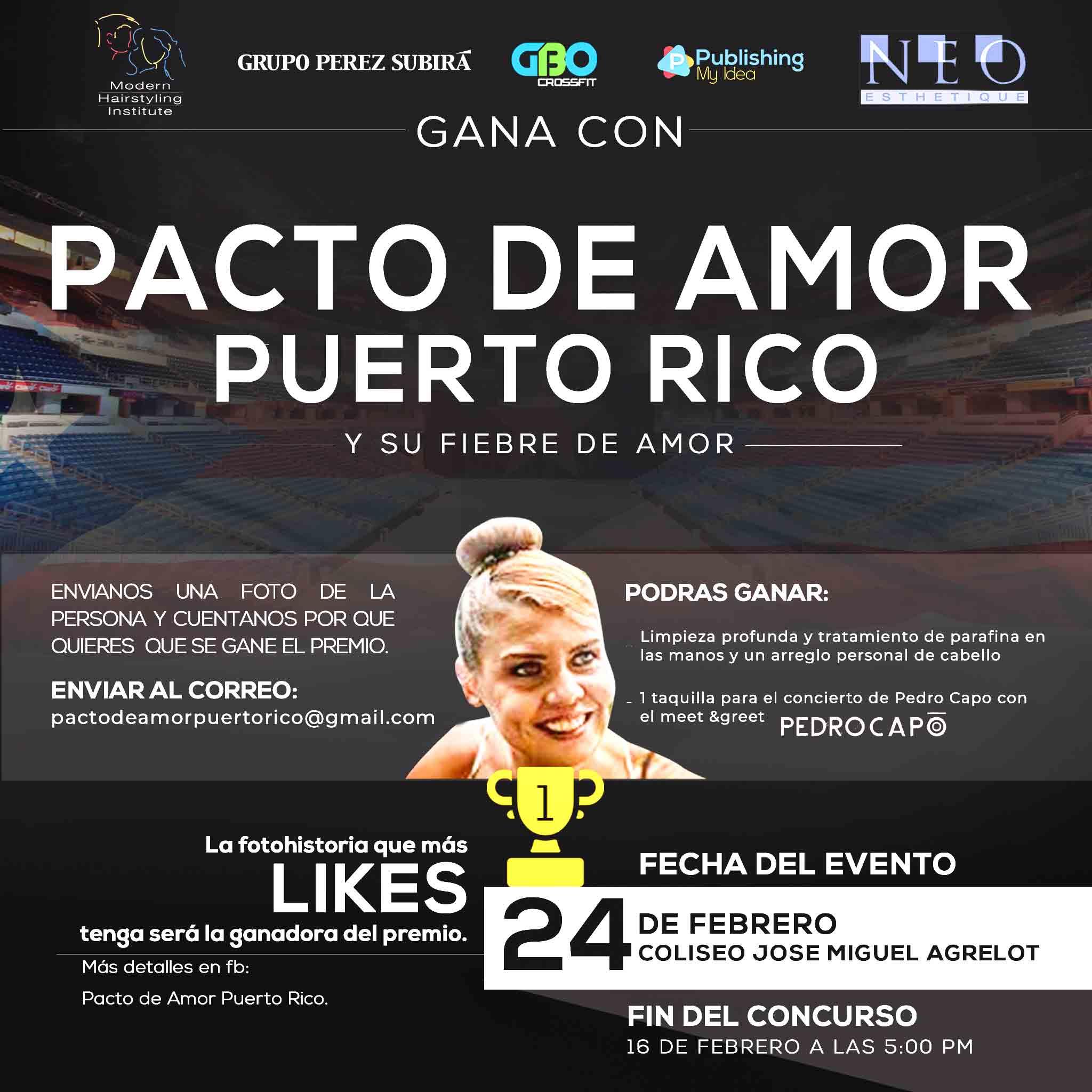 """Concurso Gana con Pacto de Amor Puerto Rico y comparte su """"Fiebre de Amor"""""""